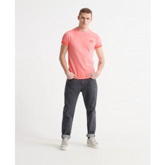 Superdry pánske tričko Organic Cotton Low Roller - Lososová