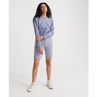 Superdry dámske krátke nohavice City Chino - Biela