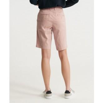 Superdry dámske krátke nohavice City Chino - Ružová
