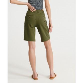 Superdry dámske krátke nohavice City Chino - Zelená