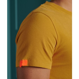 Superdry pánske tričko Orange Label Embroidery - Žltá
