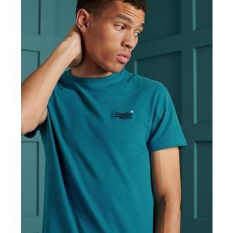 Superdry pánske tričko Orange Label Embroidery - Modrá