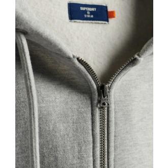 Superdry pánska mikina Orange Label Classic Zip - Sivá