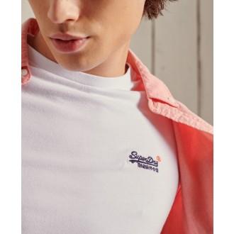 Superdry pánske tričko Organic Cotton Vintage Embroidered - Biela