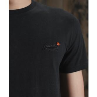 Superdry pánske tričko Organic Cotton Vintage Embroidered - Čierna