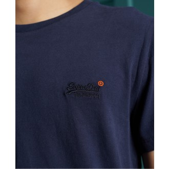 Superdry pánske tričko Organic Cotton Vintage Embroidered - Námornícka modrá