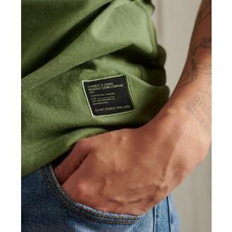 Superdry pánske tričko Military Graphic Lightweight - Kaki