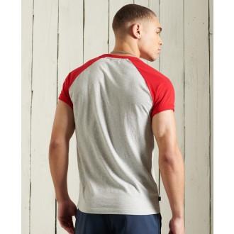Superdry pánske tričko Orange Label Baseball - Svetlosivá