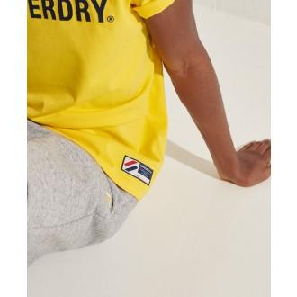 Superdry pánske tričko Sportstyle Applique - Žltá