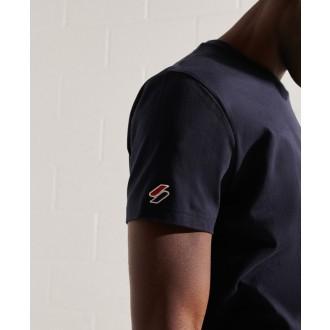 Superdry pánske tričko Sportstyle Chenille - Tmavomodrá