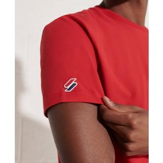 Superdry pánske tričko Sportstyle Chenille - Červená
