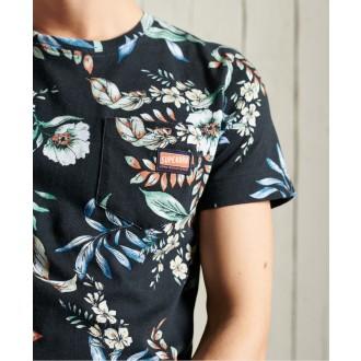 Superdry pánske tričko Limited Edition Pocket - Čierna