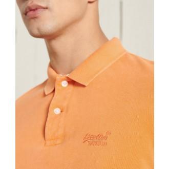 Superdry pánske tričko Vintage Destroyed Polo - Oranžová