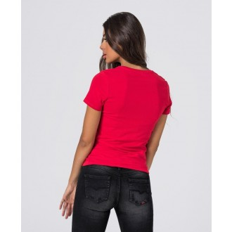 Retrojeans dámske tričko ZENIT ROUND W 20 - Červená