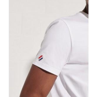 Superdry pánske tričko Sportstyle Chenille - Biela