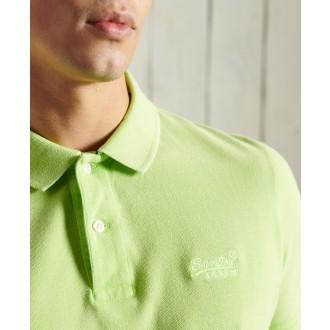 Superdry pánske tričko Vintage Destroyed Polo - Zelená