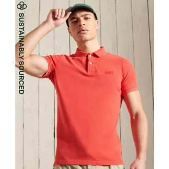 Superdry pánske tričko Vintage Destroyed Polo - Červená