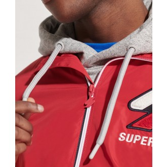 Superdry pánska bunda Track Cagoule - Červená