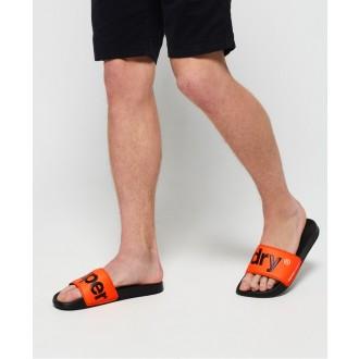 Superdry pánske šlapky pool - Oranžová