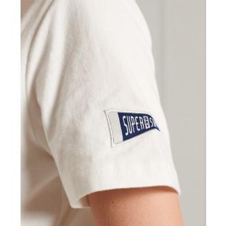 Superdry dámske tričko Collegiate Athletic Union - Krémová