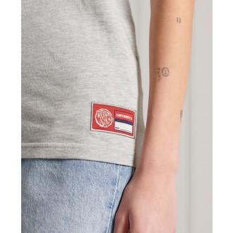 Superdry dámske tričko Collegiate Athletic Union - Sivá