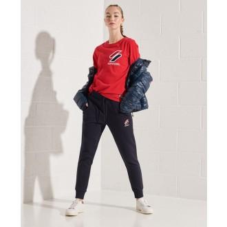 Superdry dámske tričko Sportstyle Chenille - Červená
