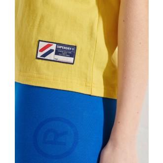 Superdry dámske tričko Sportstyle Graphic Boxy - Žltá