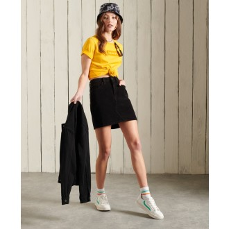 Superdry dámske tričko Core Logo Workwear - Žltá