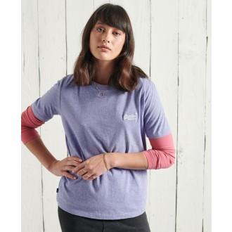 Superdry dámske tričko Organic Cotton Classic - Fialová