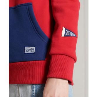 Superdry dámska mikina Vintage Colour Block - Červená