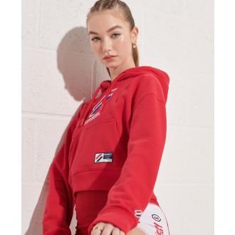 Superdry dámska mikina Sportstyle Classic Boxy - Červená