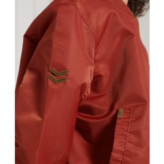 Superdry dámska bunda MA1 Bomber - Červená