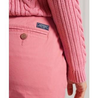 Superdry dámske nohavice Slim Chinos - Ružová