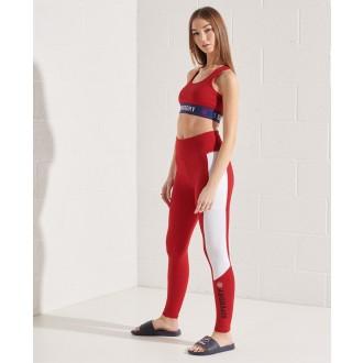 Superdry dámske legíny Active Lifestyle - Červená