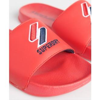 Superdry dámske šlapky Core Pool - Červená