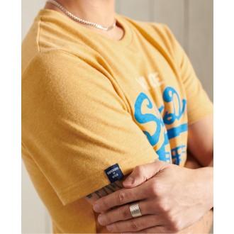 Superdry pánske tričko Vintage Logo Tri - Žltá