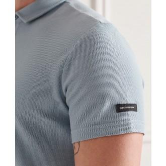 Superdry pánske tričko Textured Jersey Polo - Modrá