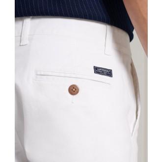 Superdry pánske nohavice Core Slim Chino - Biela