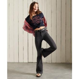 Superdry dámske tričko Workwear Graphic - Tmavomodrá