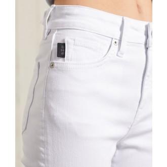 Superdry dámske riflové nohavice High Rise Skinny Jeans - Biela