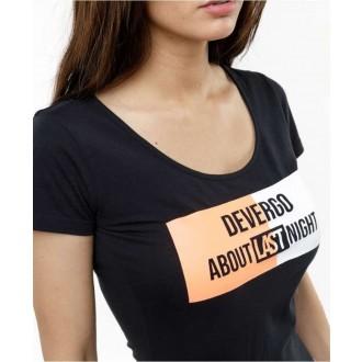 Devergo Dámske Tričko 206 - Čierna
