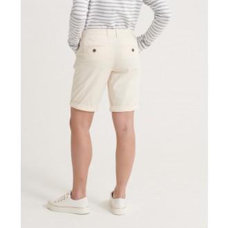 Superdry dámske krátke nohavice City Chino - Krémová