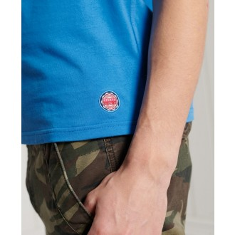 Superdry pánske tričko Collegiate Graphic Lightweight - Modrá