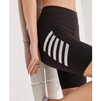 Superdry dámske elastické krátke nohavice Active Lifestyle Cycle - Čierna