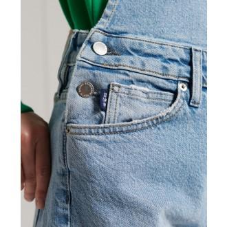 Superdry dámske riflové krátke nohavice Utility Dungaree - Zelená