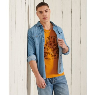 Superdry pánske tielko Workwear Graphic - Oranžová