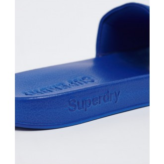 Superdry pánske šlapky High Build Logo - Modrá
