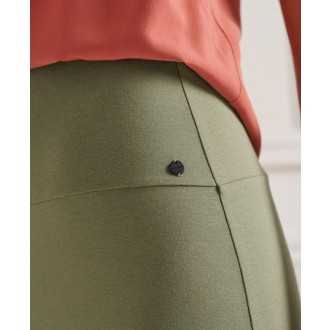 Superdry dámska sukňa Classic Jersey Midi - Zelená
