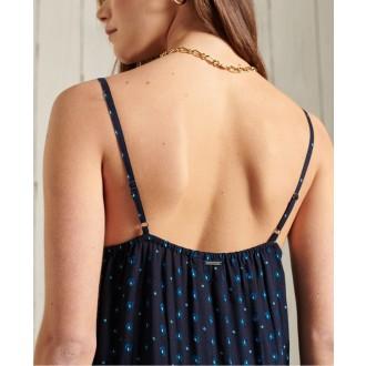 Superdry dámske šaty Ameera Cami - Námornícka modrá