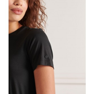 Superdry dámske šaty Drawstring - Čierna